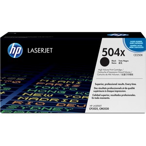 HP 504X High Capacity Black Toner Cartridge - Black - Laser - 10500 Page