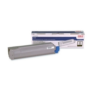 Oki Type C14 Black Toner Cartridge - Black - LED - 8000 Page - 1 Each