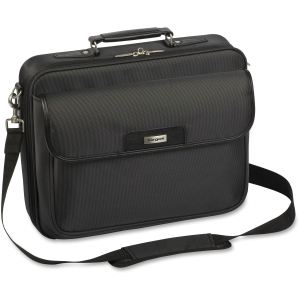 "Targus Zip- Thru Traditional Laptop Case - Clamshell13.25"" x 15.4"" x 4.5"" - Nylon - Black"
