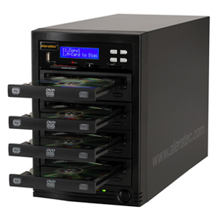 Aleratec CD/DVD Duplicator with Flash Memory Reader - Standalone - DVD-Writer - 20x DVD+R, 20x DVD-R, 8x DVD+R, 8x DVD-R, 48x CD-R - 8x DVD+R/RW, 6x DVD-R/RW, 32x CD-RW