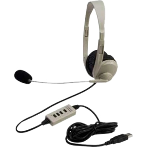 Califone 3064AV-USB Lightweight Multimedia Headset Via Ergoguys - Stereo - USB - Wired - Over-the-head - Binaural - Ear-cup - 6 ft Cable