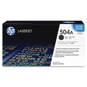 HP 504A Black Toner Cartridge - Black - Laser - 5000 Page - OEM
