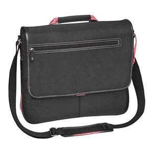 "Targus 15"" Top-Loading Prism Messenger - Nylon, Black/Pink"