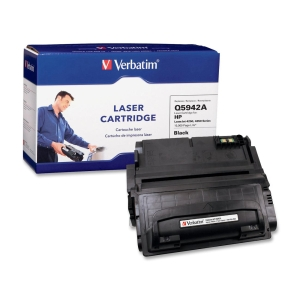 Verbatim HP Q5942A Compatible Toner Cartridge (4250, 4350) - Black - Laser - 10000 Page - 1 / Pack
