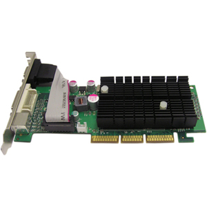 Jaton GeForce 6200 Graphics Card - nVIDIA GeForce 6200 - 512MB GDDR2 SDRAM 64bit - AGP 8x - HD-15, DVI-I - Retail