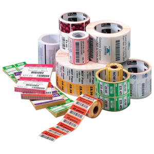 "Zebra Label Paper 2.25 x 1.25in Thermal Transfer Zebra Z-Select 4000T 1 in core - 2.25"" Width x 1.25"" Length"