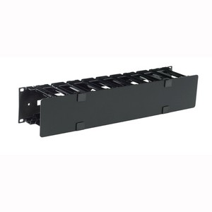 APC Horizontal Cable Manager with Single Side Cover - Black