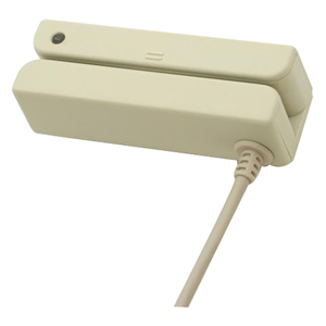 Unitech MS240 Magnetic Stripe Reader - Dual Track - 55in/s - USB - Beige