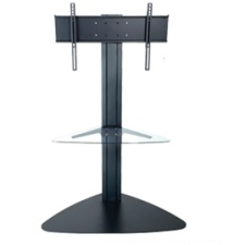 Peerless SGLB01 Flat Panel TV Stand - Glass - Black