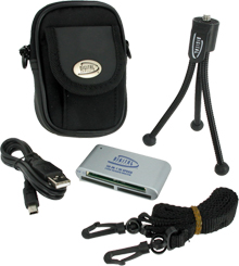 Digital Essentials Kit 3-Piece Card Reader Tri-Pod and Case