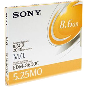 "Sony 5.25"" Magneto Optical Media - 8.6GB - 8x"