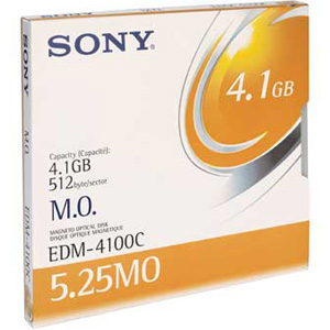 "Sony 5.25"" Magneto Optical Media - 4.1GB - 8x"