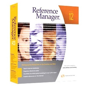 Thomson ResearchSoft Reference Manager v.12.0 - Complete Product - 1 User - Reference/Management - Standard Retail - PC