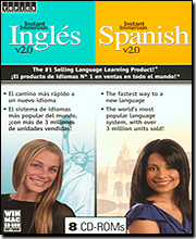 Instant Immersion Ingles & Spanish 2.0 - 2 Pack (8 CD-ROM Bundle)