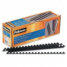 Fellowes CRC52320 Plastic Comb Bindings, 0.25 Inch, 20-Sheet Capacity, Black, 100 per Pack
