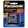 Panasonic Nickel Metal Hydride Type 16 Battery for Cordless Phones - Nickel-Metal Hydride (NiMH) - 3.6V DC