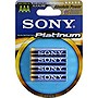 Sony STAMINA AM4PTB4A Platinum Alkaline AAA Size General Purpose Battery - Alkaline - 1.5V DC