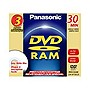 Panasonic DVD-RAM Media - 1.4GB - 3 Pack