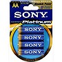 Sony STAMINA AM3PTB4A Platinum Alkaline AA Size General Purpose Battery - Alkaline - 1.5V DC