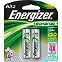 Energizer NH15BP-2 AA NiMH Rechargeable Battery, 2-Pack