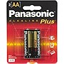 Panasonic AA-Size General Purpose Battery Pack - Alkaline, 2 Pack