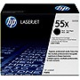 HP 55X Black Print Cartridge - Black - Laser - 12500 Page - 1 Each