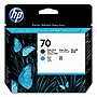 HP 70 Matte Black and Cyan Printhead - Inkjet - 1 Each