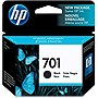 HP 701 Black Original Ink Cartridge - Black - Inkjet - 350 Page - 1 Each