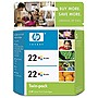 HP 22 Twinpack Tri-color Ink Cartridge - Color - Inkjet