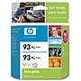 HP 93 Twinpack Tri-color Ink Cartridge - Color - Inkjet
