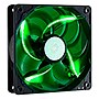 Cooler Master SickleFlow 120 - Sleeve Bearing 120mm Green LED Silent Fan for Computer Cases, CPU Coolers, and Radiators - Green LED, 120x120x25 mm, 2000 RPM, 69 CFM air flow, 19 dBA noise level, 50,000 hour lifespan, Sleeve Bearing, ~ 3 mm H2O air pressur