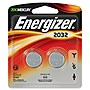 Energizer 2032 3V DC Lithium  Watch/Electronic Batteries - 2 Pack