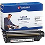 Verbatim HP CE250A Remanufactured Black Toner Cartridge (Color LaserJet 3530 MFP, CM3530FS MFP, CM3525DN, CM3525N,CM3525X) - Black - Laser