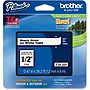 "Brother 12mm (0.47"") Black on White Tape for P-Touch, 8m (26.2 ft)"