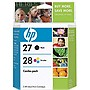HP 27A / 28A Black and Tri-color Ink Cartridges - Black, Color - Inkjet - 220 Page Black, 190 Page Color - Retail