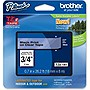 "Brother TZ Lettering Label Tape - 0.75"" Width x 26.20 ft Length - 1 Each - Clear"