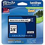 "Brother 9mm (0.35"") Black on White Tape for P-Touch, 8m (26.2 ft)"