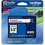 "Brother 12mm (0.47"") Red on White Tape for P-Touch, 8m (26.2 ft)"