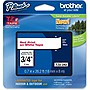 "Brother 18mm (0.7"") Red on White Tape for P-Touch, 8m (26.2 ft)"