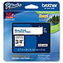 "Brother 18mm (0.7"") Blue on White Tape for P-Touch, 8m (26.2 ft)"