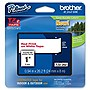 "Brother 24mm (0.94"") Red on White Tape for P-Touch, 8m (26.2 ft)"