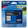 "Brother 18mm (0.7"") White on Black Tape for P-Touch, 8m (26.2 ft)"