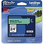 "Brother TZe741 18mm (0.7"") Black on Green Tape for P-Touch, 8m (26.2 ft)"