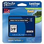 "Brother TZ Label Tape Cartridge - 0.38"" Width - White - 1 Each"