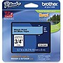 "Brother TZe541 Black on Blue Label Tape - 0.70"" Width x 26.25 ft Length - 1 Each - Thermal Transfer - Blue"