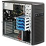 Supermicro SuperServer 5037C-T Barebone System Mid-tower - Intel C204 Chipset - Socket H2 LGA-1155 - 1 x Processor Support - Black - 32 GB Maximum RAM Support - Serial ATA/600 RAID Supported Controller - Matrox G200eW Graphics Integrated - 6 x Total Expan