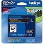 "Brother 12mm (0.47"") Gold on Black Tape for P-Touch, 8m (26.2 ft)"