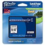 "Brother TZ Label Tape Cartridge - 0.25"" Width - 1 Each - Clear, Black"