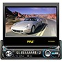 "Pyle PLTS76DU Car DVD Player - 7"" Touchscreen LCD - 320 W RMS - Single DIN - DVD Video, Video CD, MPEG-4 - AM, FM - Secure Digital (SD), MultiMediaCard (MMC) - Bluetooth - Auxiliary Input1440 x 234 - In-dash"