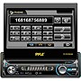 Pyle PLTS78DUB Car DVD Player - 7&quot; Touchscreen LCD - Single DIN - DVD Video, MPEG-4, Video CD - AM, FM - Secure Digital (SD), MultiMediaCard (MMC) - Bluetooth - Auxiliary Input1440 x 234 - In-dash